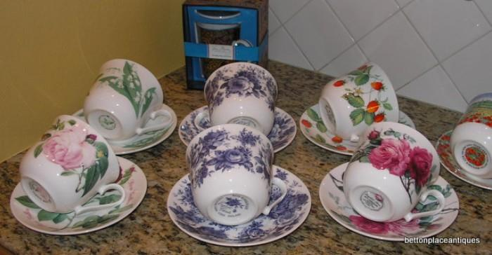 Larger cups and Saucers