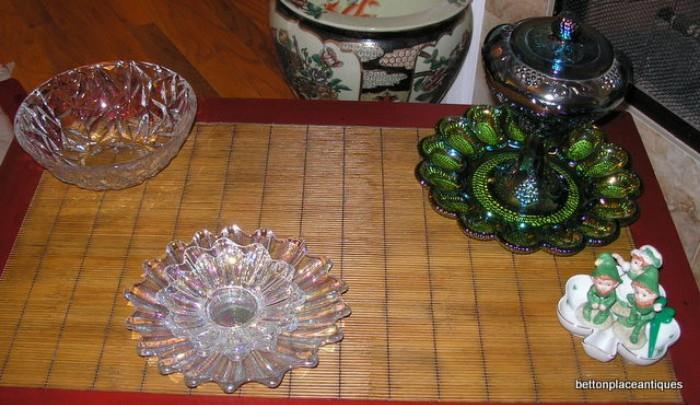 Tiffany Studio Bowl, Smith Glass etc