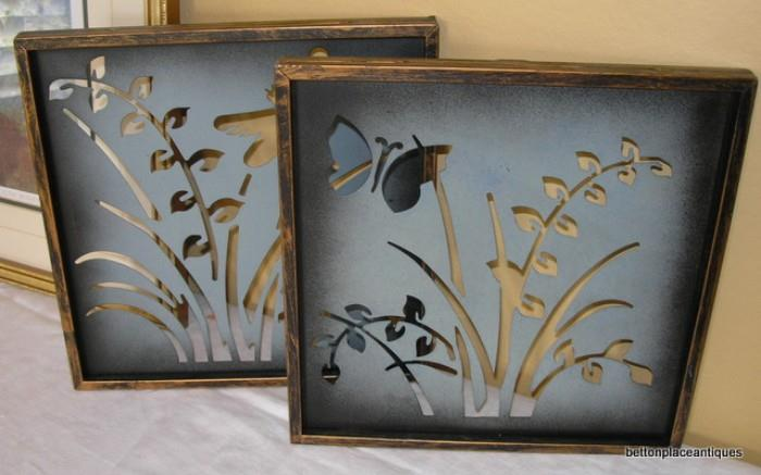 Metal Framed Butterfly Pictures