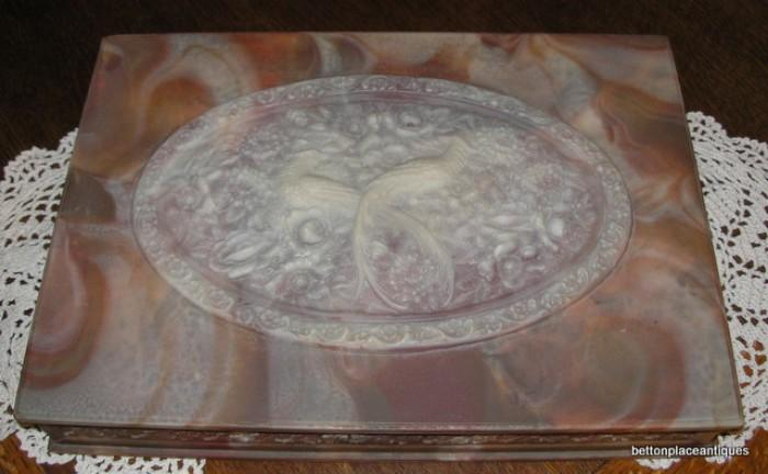 Incolay large Trinket Box