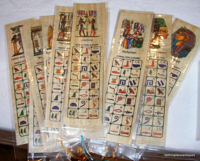 Egyptian Book Marks Souvenirs