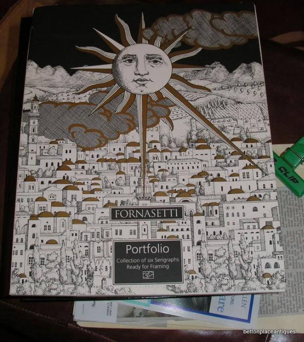 This is the Cover for the Fornasetti Litho set