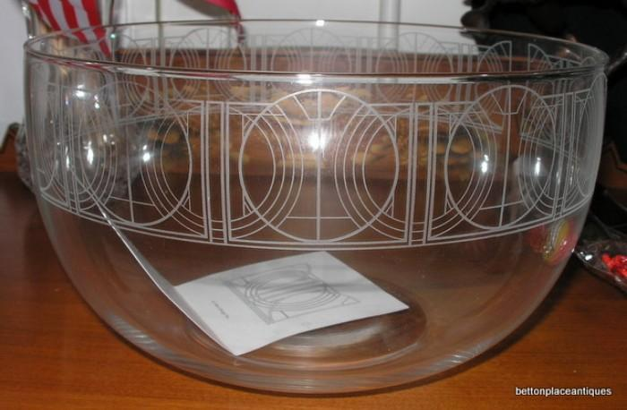 Tiffany Crystal Bowl with Frank Lloyd Wright Design