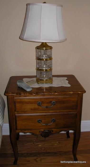 Waterford Lamp on Ethan Allen Nightstand