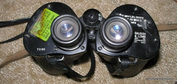 Bausch Lomb 1942 Navy Binoculars model 29 with case
