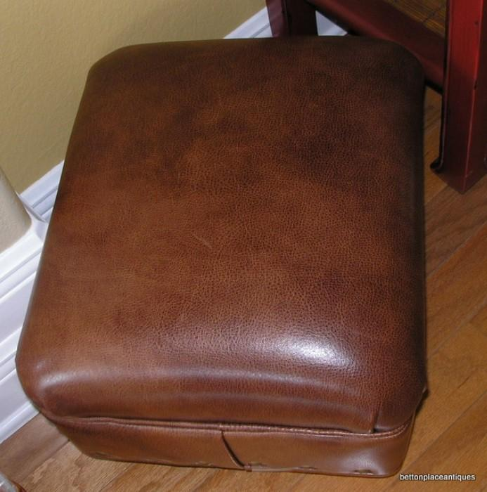 Hancock and Moore Footstool in Leather