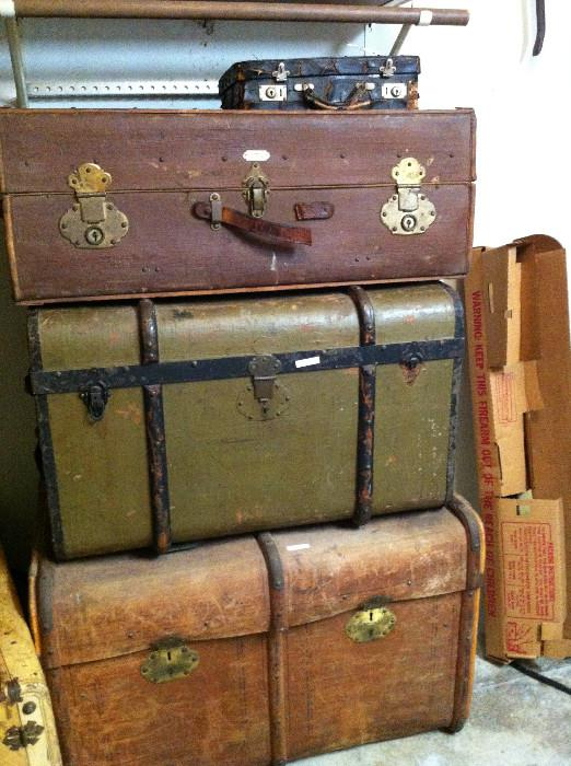 very old trunks