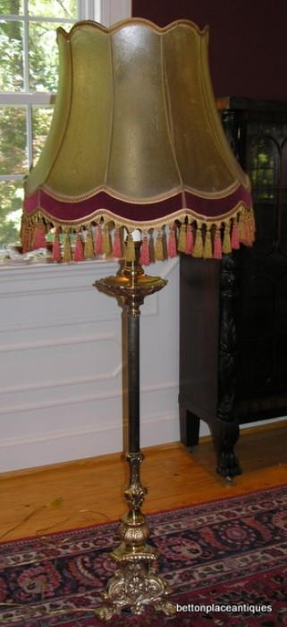 Solid Brass with vellum lampshade