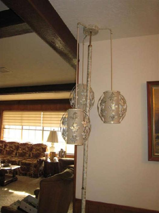 MID-CENTURY EAMES ERA POLE LAMP