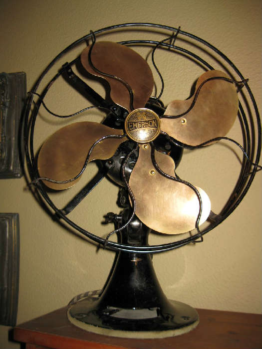 WORKING VINTAGE EMERSON BRASS BLADE FAN