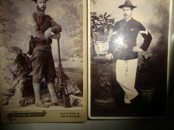 cdv's from Spanish American War that go with medals and photo album