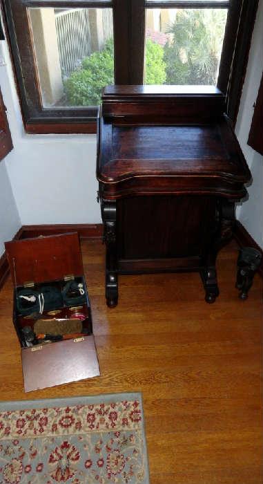 antique captains writing desk
