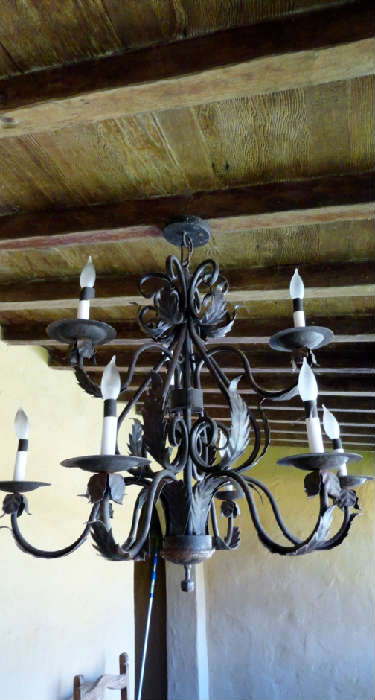 wrought iron chandilier