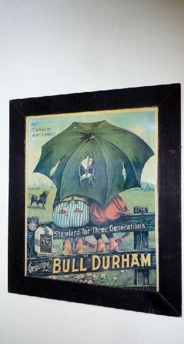 Bull Durham paper sign