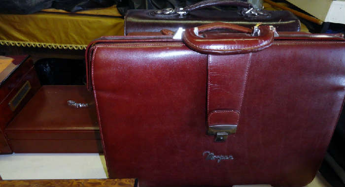 high quality leather luggage