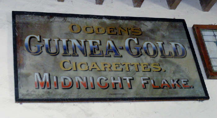 """large vintage metal sign""""Guinea-Gold"""""""