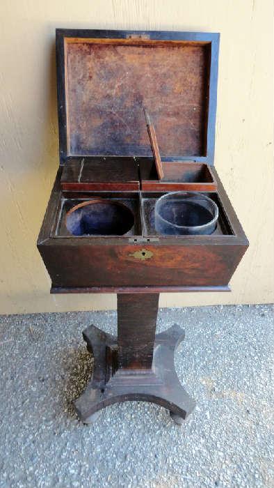 antique standing tea caddy