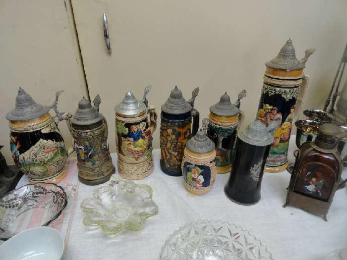 vintage stein collection