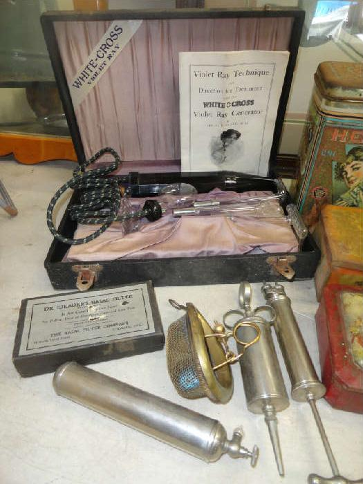 vintage xray and dental items