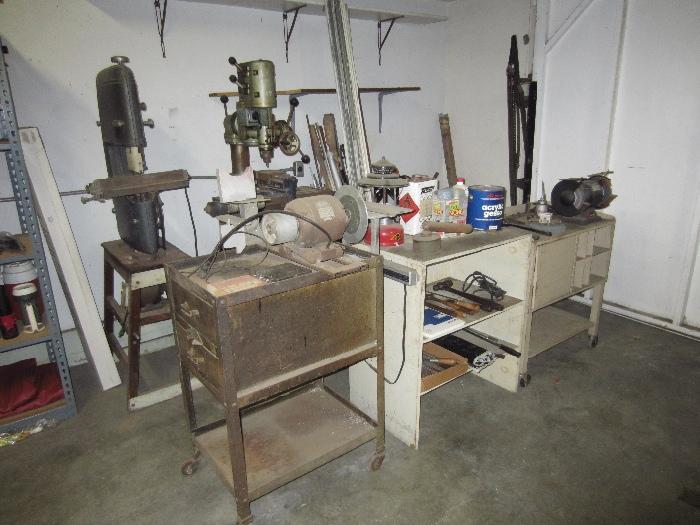 Craftsman bandsaw and Ag Arboga Maskiner mill