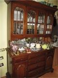 wood curio dresser