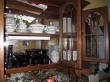 Avon goblets and Haviland china