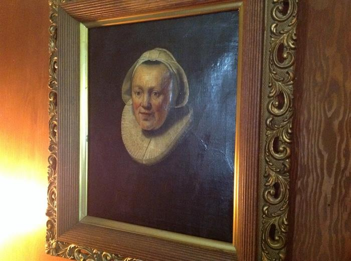Flemish portrait signed bottom right..cannot make out signature.