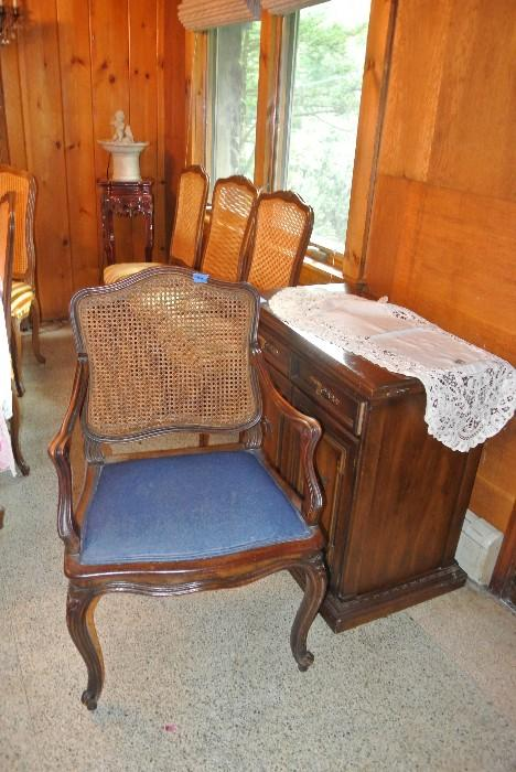 Assorted Cane Back Chairs