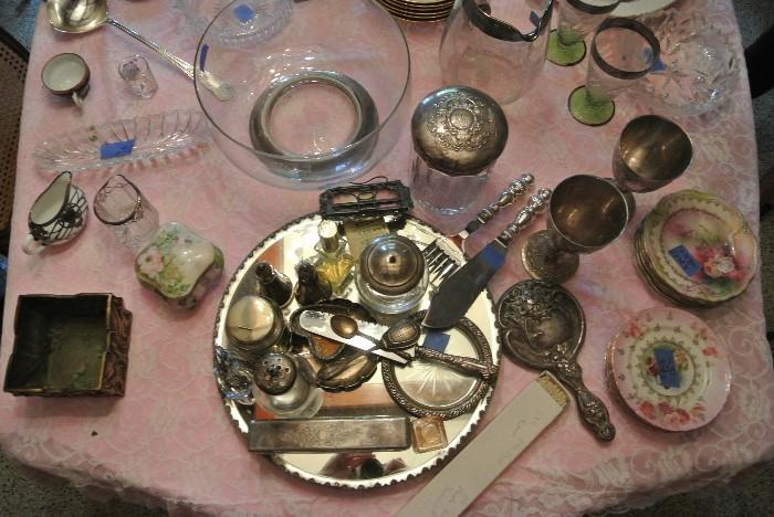 Assorted Sterling Silver, Silver Plate & Decorative Accessories