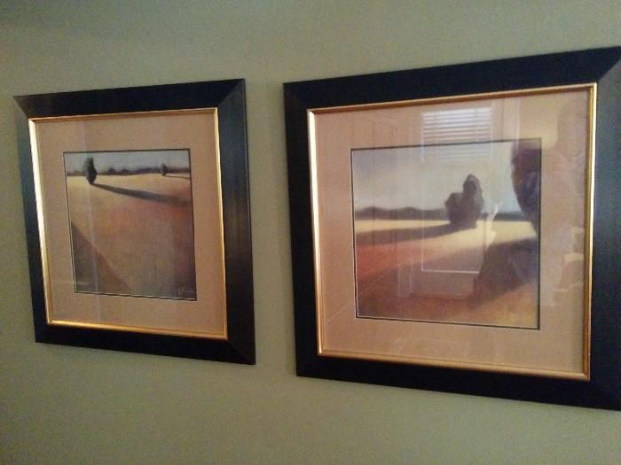 Pair of nicely framed and matted prints
