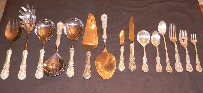 Reed & Barton Francis I.  Service for 8.   7 Available  serving pieces shown.