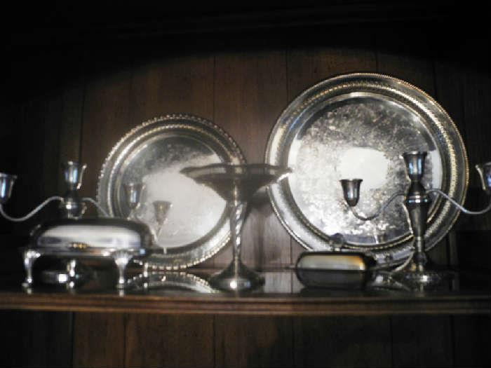 Lots of lovely silverplate