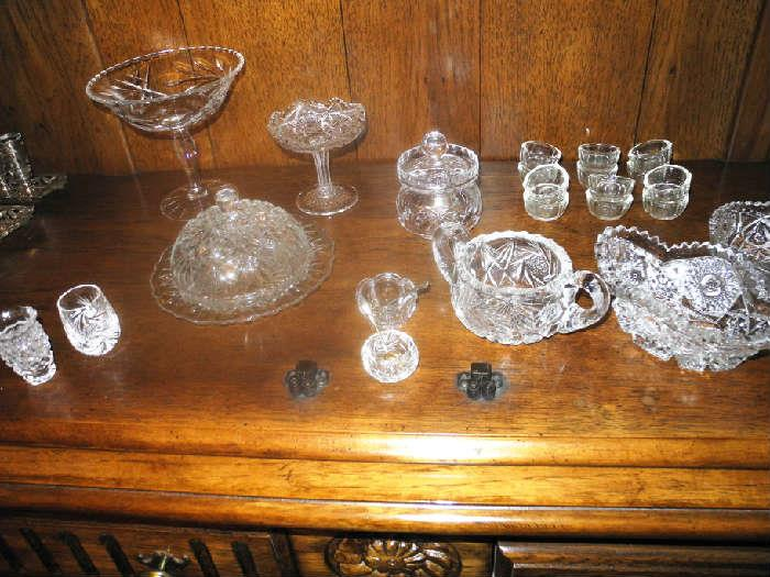 Many beautiful crystal pieces including stemware