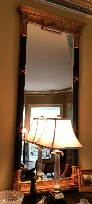 """Carved Gild Fluted Sheraton Mirror (34-1/2"""" x 50-1/2"""")"""
