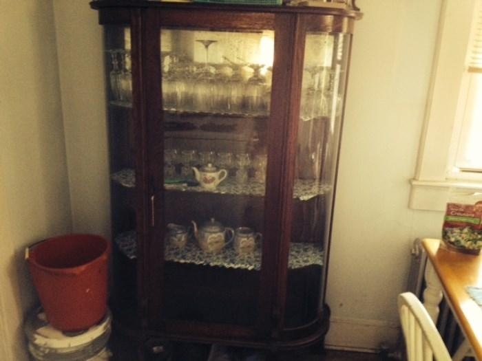 antique curio china cabinet. perfect condition for it's age.