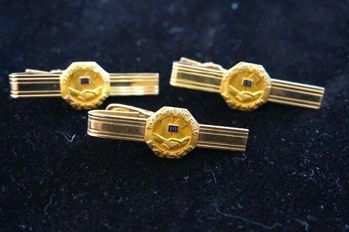 Kaiser Industries pins. The emblem is 14K