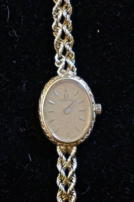 Ladies 14K Omega watch