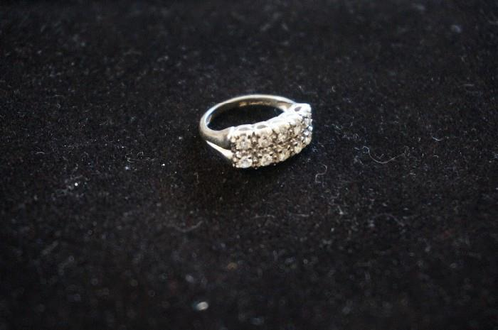 Ladies diamond wedding ring.  Good quality diamonds and beautifully made