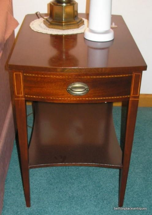 Matching Duncan Phyfe style Endtables, two of these.......cash only