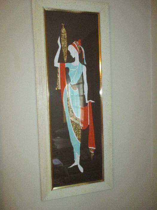Vintage Grecian Art With Matching Picture