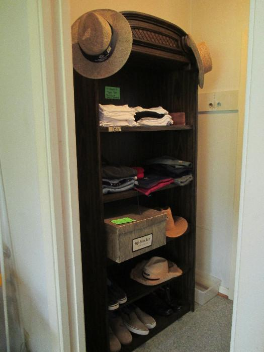 Shelving, Straw Hats and A Nice Gray Cowboy Hat From High Brehm