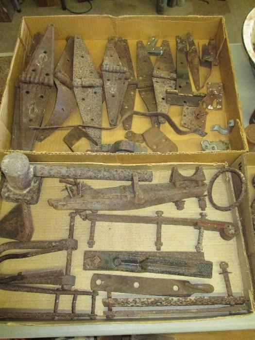 Old Hinges, primitive tools