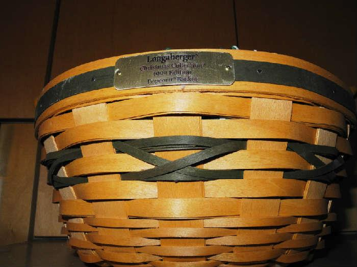 Several Longaberger baskets