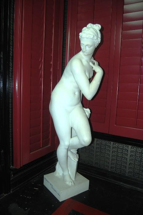 BRAMANTI BROS CARRERA MARBLE SCULPTURE - PIETRASANTA, ITALY - HEIGHT:  53 INCHES - 300 LBS