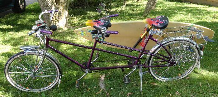 Schwinn Tandem, Bicycle, Surf Board Bicycle, Custom Bicycles
