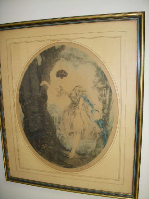 """1927 Signed ICART print """"The Hiding Place"""""""