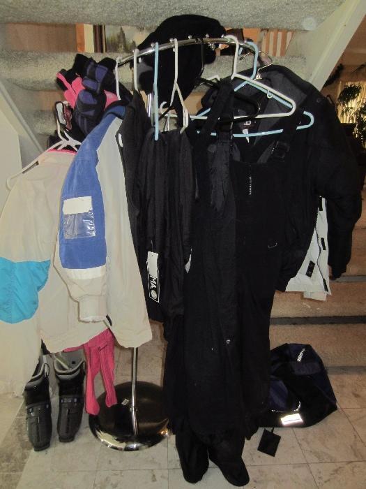 lots of ski apparel