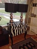 BEAUTIFUL ZEBRA PRINT MODERN FURNITURE & LAMPS