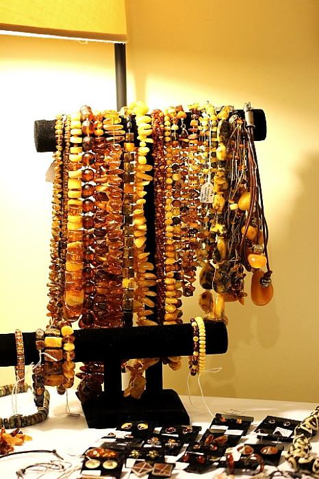 Amber jewelry collection (some Butterscotch amber)