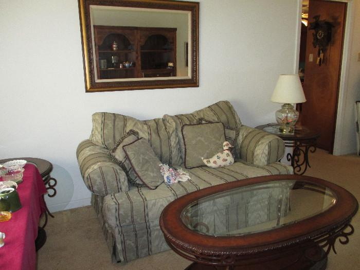 Couch, Two Accent Tables, One Oblong Table, Regula Cuckoo Clock